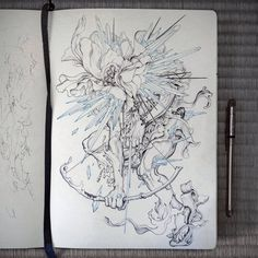 James Jean. Archer. The original drawing from which the 3D CG model was made for the cover to The Hunting Party by Linkin Park.