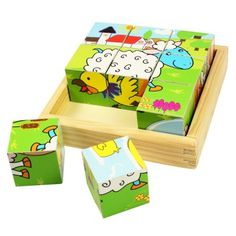 Buy our Wooden Farm Animal Cube Puzzle by Bigjigs available now at Mulberry Bush. Suitable for children aged 18 months+. Order now with Free Delivery over Wooden Puzzles, Wooden Toys, Jigsaw Puzzles, Wooden Blocks, Play Puzzle, Cube Puzzle, Wooden Animals, Farm Animals, Puzzle Drawing
