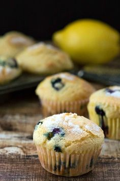 Lighter, healthier Blueberry Lemon-Sugar Muffins taste so good that you'll never miss the extra fat and calories!