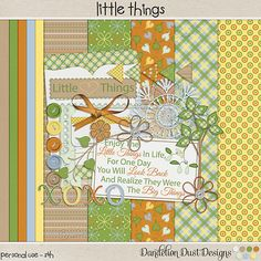 Digital Scrapbooking Little Things Mini Digital Scrapbook Kit By Dandelion Dust Designs #DandelionDustDesigns #DigitalScrapbooking #LittleThings #GingerScrapsApril2015Buffet