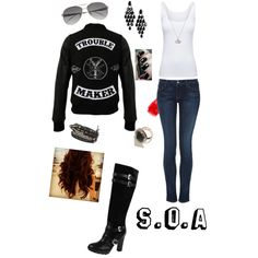"""""""Sons of Anarchy; Old lady look"""" by kcadotte-burton on Polyvore"""