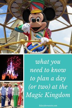 Thinking of a Disney vacation? Here's how you can plan to see Magic Kingdom in one day (or two). Disney World Magic Kingdom, Disney World Parks, Walt Disney World Vacations, Disneyland Trip, Disney World Resorts, Disney Travel, Disney Vacation Planning, Disney World Planning, Trip Planning