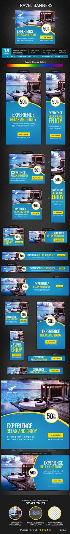 Travel Banners Template PSD. Download here: http://graphicriver.net/item/travel-banners/15394498?ref=ksioks