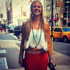 Rachel Brathen (@yoga_girl) looking so beautiful & happy in our Lapis Serenity Beads. <3 elizabethirvine.com
