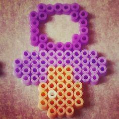 Purple pacifier hama beads by nuskyartesania