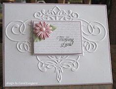 Why haven't I thought of doing this with other embossing folders I have, and putting something popped in front of it?!