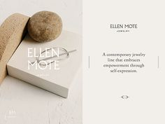 Ellen Mote Jewelry - b r a n d . m e - Ellen Mote Jewelry Great work from a designer in the Dribbble community; your best resource to discover and connect with designers worldwide. Minimal Web Design, Tiffany Jewelry, Branding Design, Logo Design, Collateral Design, Design Design, Packaging Design, Best Jewelry Designers, Plakat Design