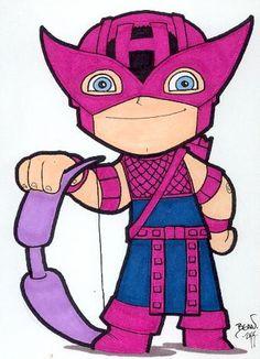 Chibi-Hawkeye. by hedbonstudios.deviantart.com on @deviantART