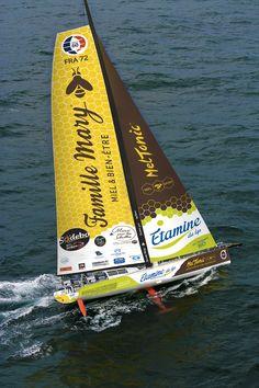 Le skipper Romain Attanasio embarque sur le bateau Famille Mary / Etamine du Lys pour le Vendée Globe 2016 !