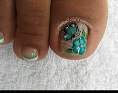 Toe Nail Designs, Toe Nails, Manicure, Hair Beauty, Make Up, Turquoise, Erika, Pretty Nails, Sour Cream