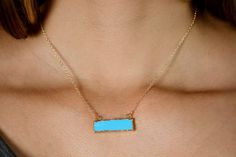 Bella turquoise bar necklace