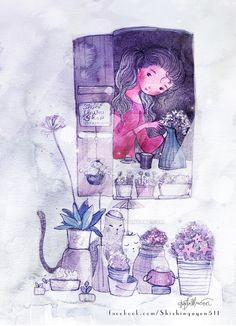 Flowershop by nguyenshishi.deviantart.com on @DeviantArt