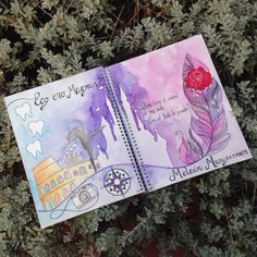 Libretas personalizadas hecha a mano con ilustraciones en acuarelas (2 Portada) de BugsDisenos en Etsy