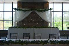 #receptionflowers#weddingflowers#whitewedding#greenerywedding#garland#bradfordgreenhouses