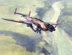French Breguet 693 ground-attack aircraft (introduction - 1939; build - 230; speed - 490 km/h; bombs - 460 kg)