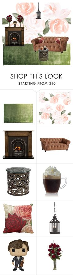 """Vintage space"" by deathrose394 ❤ liked on Polyvore featuring interior, interiors, interior design, home, home decor, interior decorating, Designers Guild, Radley, PBteen and Funko"
