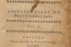 Title page from a book of hymns composed by Charles Wesley.