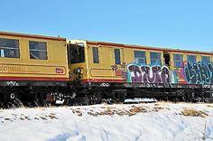 Le Train jaune, classé au patrimoine mondial de l'Unesco et emblème du Pays catalan au col Rigat en Cerdagne.