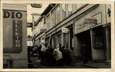 TØNSBERG i Vestfold fylke. Brannen i Rådhusgaten 1959 privatkort,