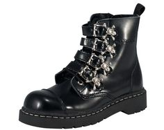 Skull Buckle Boot