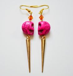 Spikes and Skulls Earrings | http://www.macted.ro/spikes-and-skulls-earrings/