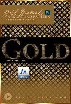 In this gold pattern design tutorial, I'll show you how to make a custom gold background pattern that shines like gold and glitters like diamonds. This gold pattern design features a diamond pattern with metallic and glitter elements. Gold Pattern, Diamond Pattern, Pattern Design, Blog Design, Web Design, Graphic Design, Gold Background, Background Patterns, Layer Style