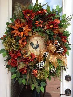 AUTUMN DAYS Fall Thanksgiving Rustic Rooster by adoorableflorals, $142.00