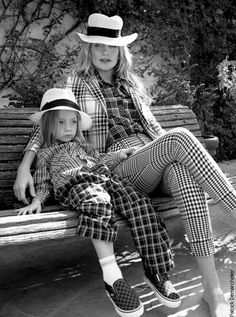 Kate Hudson & son, updated version of mom & son matching outfits.
