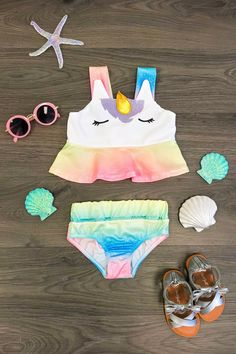 Many Colors to Choose From! Mermaid Skirt w Matching Bathing Suit Fast Shipping!