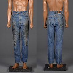 1970s Vintage Levis Jeans Distessed Denim Workwear Vintage Menswear Men's Fashion by StyleandSalvageMen