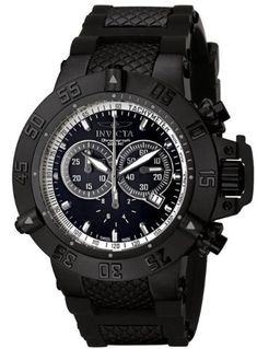 Men's Wrist Watches - Mens Invicta 5508 Subaqua Noma III Chronograph Black Ion Plated Stainless Steel Case Black Rubber Strap Watch -- Be sure to check out this awesome product.