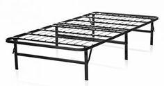 Lucid Foldable Metal Platform Bed Frame and Mattress Foundation, Twin