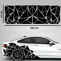 Cool Car Stickers, Body Stickers, Decals For Cars, Truck Stickers, Truck Decals, Vinyl Decals, Jetta A4, Triangles, Camouflage