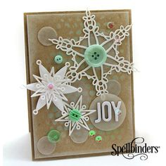 "#S4-433 Spellbinders ""Holiday"" Collection ""Holiday Greetings""  #4/4 card sample (Note: The die name on my pkg is ""Holiday Greetings""; however, it is listed as ""Snowflake Bliss"" on most searches & also as ""Snowflake Greetings"")  (Site: photo only)"