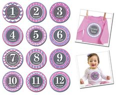 Patterned Princess - baby milestone stickers   Boutique Brands