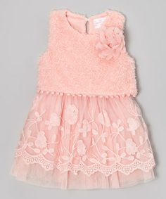 Take a look at this Pink Tulle Flower Dress - Toddler & Girls by Blossom Couture on #zulily today!