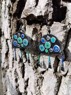Orient / KatarinaKondacova - SAShE.sk - Handmade Náušnice Ale, Personalized Items, Earrings, Handmade, Ear Rings, Stud Earrings, Hand Made, Ale Beer, Ear Piercings