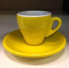 Yellow Milano Espresso Cups