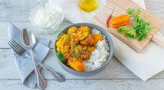 Zeleninové kari s karfiólom a ryžou - Recepty Kulinárium Garam Masala, Curry, Ethnic Recipes, Food, Summer Squash, Curries, Essen, Kalay, Yemek