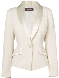 """DZ-approved: """"Love the shawl collar."""" Womens Phase Eight Paula Tuxedo Jacket, Ivory. Big covet for this! Suits For Women, Jackets For Women, Clothes For Women, Tuxedo Jacket, Blazer Jacket, White Tuxedo, Ivory Tuxedo, Ivory White, Dress Suits"""