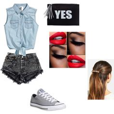 Party ;) by petra003-i on Polyvore featuring beauty, L. Erickson and Converse