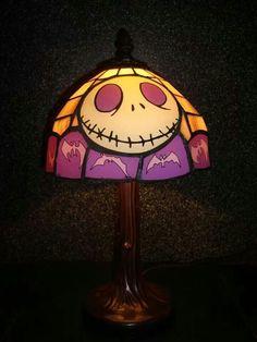 Tiffany style lamp with Jack Skellington