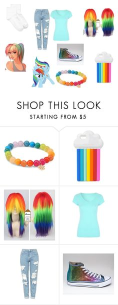"""""""Rainbow dash!"""" by candymwitherose ❤ liked on Polyvore featuring Sydney Evan, STELLA McCARTNEY, My Little Pony, Topshop and HUE"""