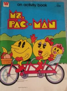 """Ms. Pac-Man Activity Book The Golden Age Arcade Historian: A Literary"""" History of the Golden Age of Video Games - Golden Age Video Game Books Part 6 #PacMan #MsPacMan #Namco"""