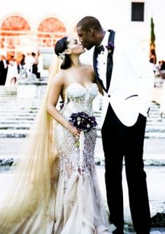 She looks amazing! Bridal Bliss Exclusive: Amar'e Stoudemire and Alexis Welch's Wedding Photos Wedding Goals, Wedding Attire, Wedding Dresses, Formal Dresses, Perfect Wedding, Dream Wedding, Wedding Day, Wedding News, Wedding Styles