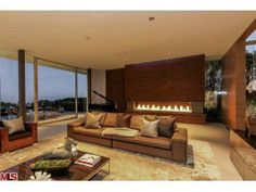The new concept in fireplace design. Beverly Hills, CA Coldwell Banker Residential Brokerage $12,500,000