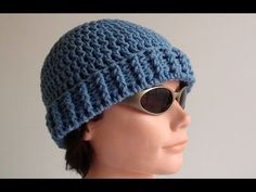 How to Crochet a Mens Crochet Beanie Video Tutorial and Pattern. Beginner to Easy Level. Written Pattern below and free to print at http://www.crochethooksyou.com/mens-crochet-beanie-pattern/    Written Instructions - Design by Paula Daniele  Copyright © Crochet Hooks You. All Rights Reserved.    Notes: ch 3 = 1 dc st    Making the Crown (top of beanie...