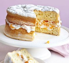 Fruity sponge cake. Tuck into a delicious low-fat cake recipe as devised by one of our Good Food readers.