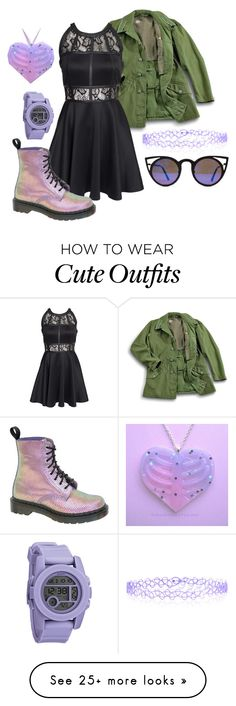 """""""Heist Outfit #1"""" by felixmcs on Polyvore featuring AX Paris, Dr. Martens, Accessorize and Nixon"""