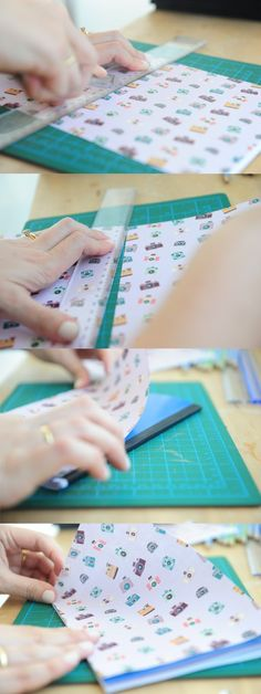DIY notebook cover in the making tutorial